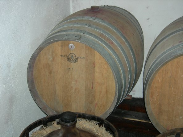Wine Barrels At Entrepreneur's Home (Don and Lynore's Trip)