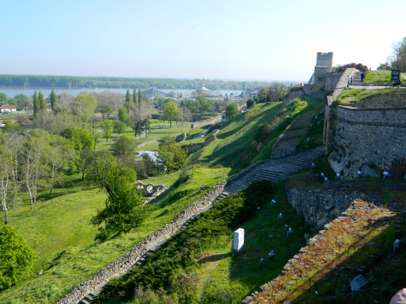 Farther Around The Walled Fort Overlooking The Danube