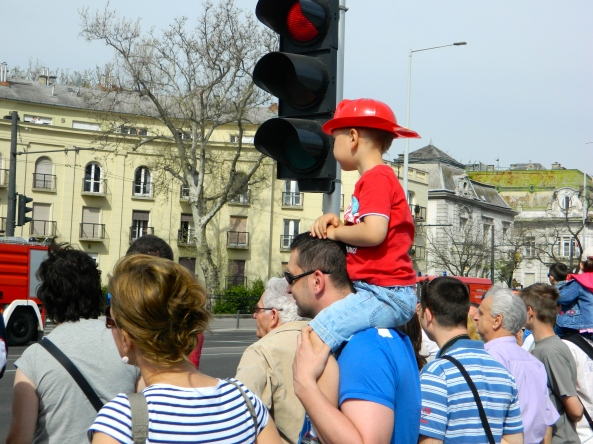 Future Firefighter Enjoys The Parade
