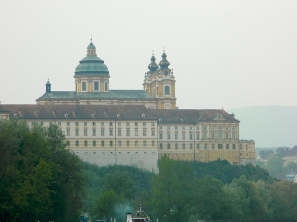 Approaching the Monastery At Melk From Downriver Danube