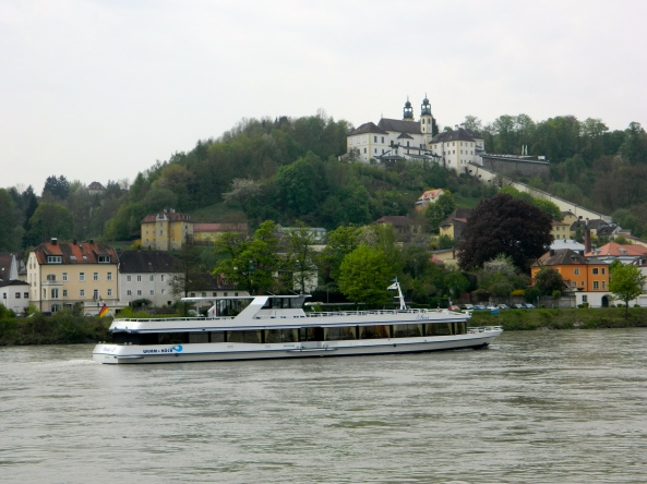 Looking Across The Inn River To The South Side Of Passau