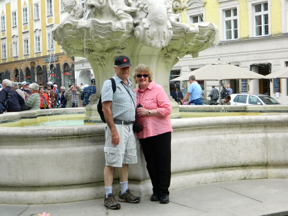 Don And Lynore At Cathedral Square In Passau