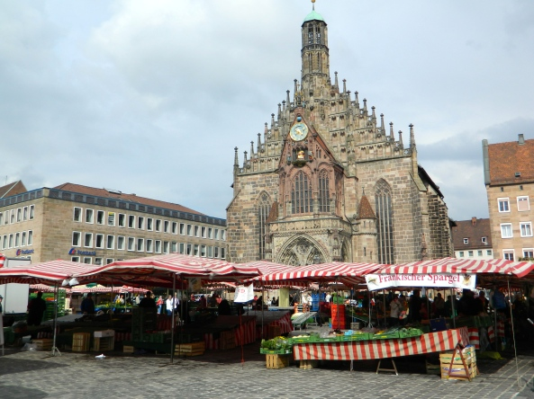 Across the Market To One Of The Local Churches