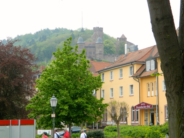 Approaching Wertheim, Castle Above.