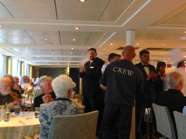 Gerhardt Presents Each Crew Member To The Passengers
