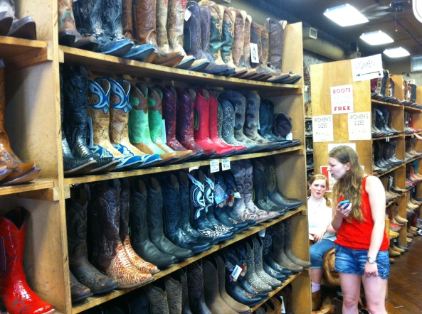 Boot Store In Memphis. Buy One Pair, Get Two Pairs Free. Beware The Price Of The First Pair!