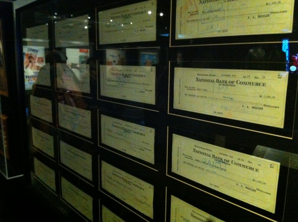 Part Of The Wall Of Cheques For Charities.