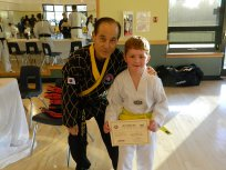With Grand Master Kim.
