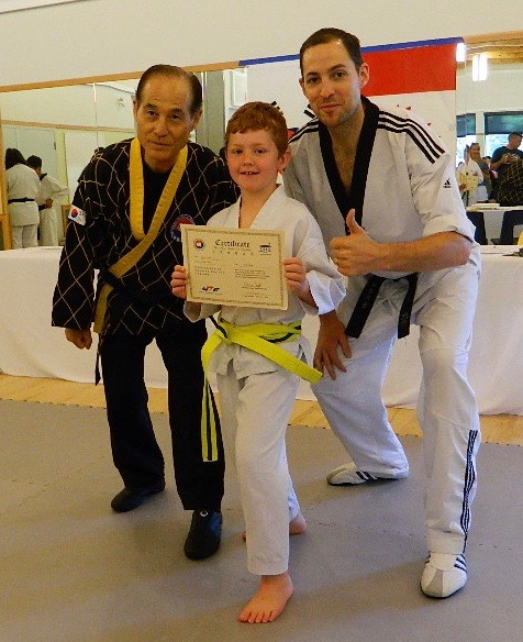 With teacher Richard and Grand Master Kim