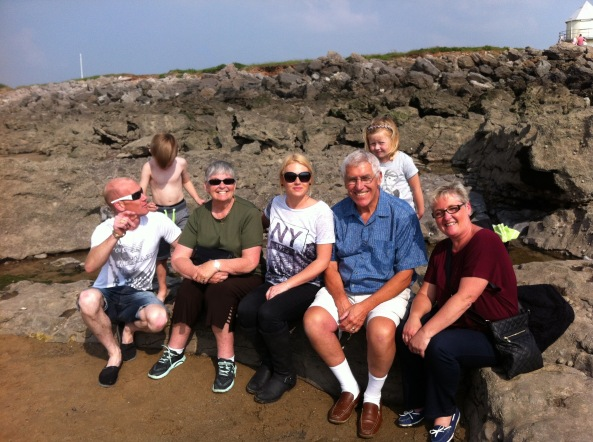 More family, Porthcawl, Wales